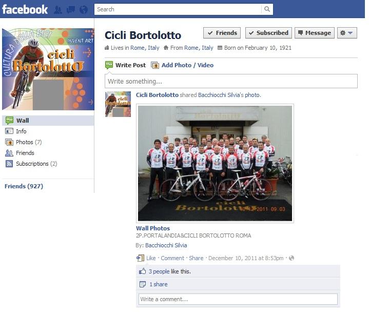 Cicli Bortolotto su Facebook